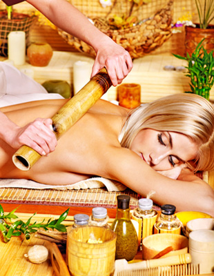 bamboo rod massage